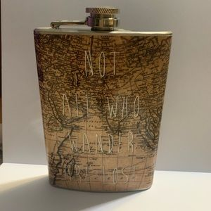 Not All Who Wander Are Lost Flask